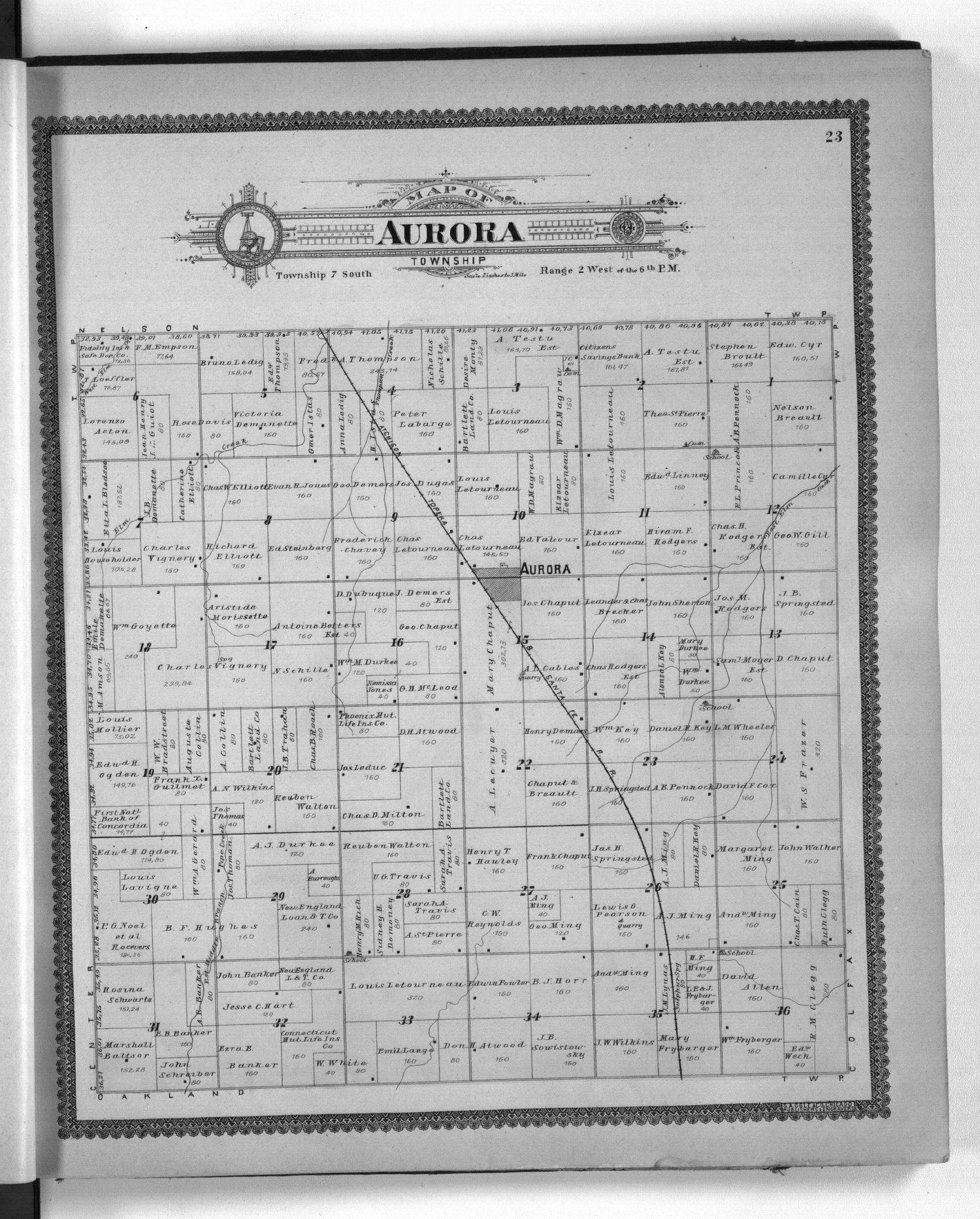 Standard atlas of Cloud County, Kansas - 23