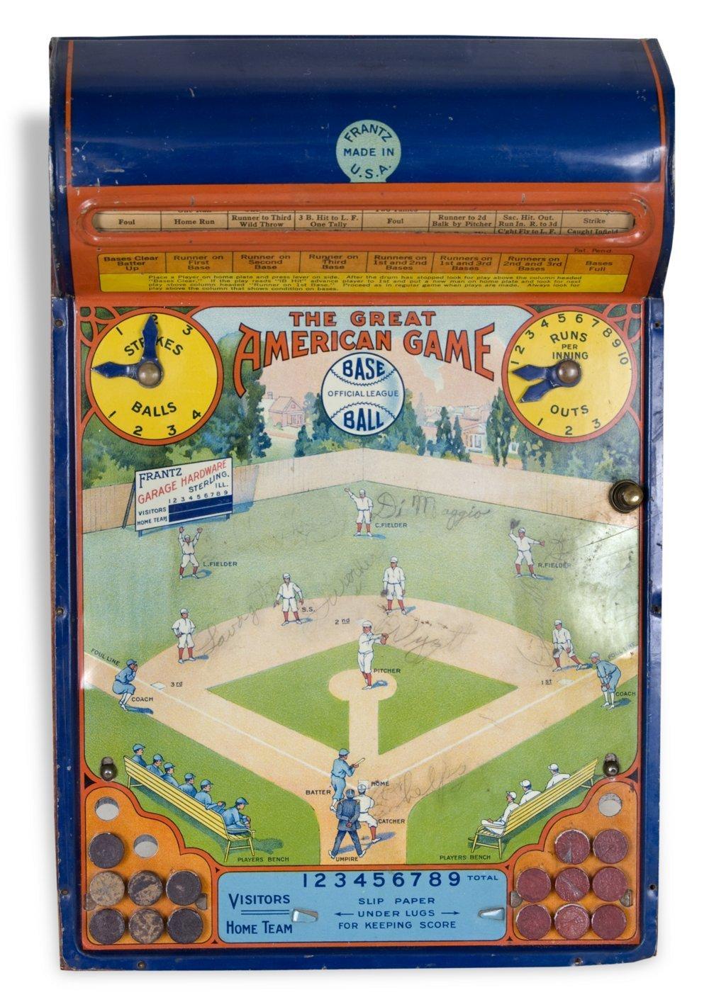 Mechanical baseball game