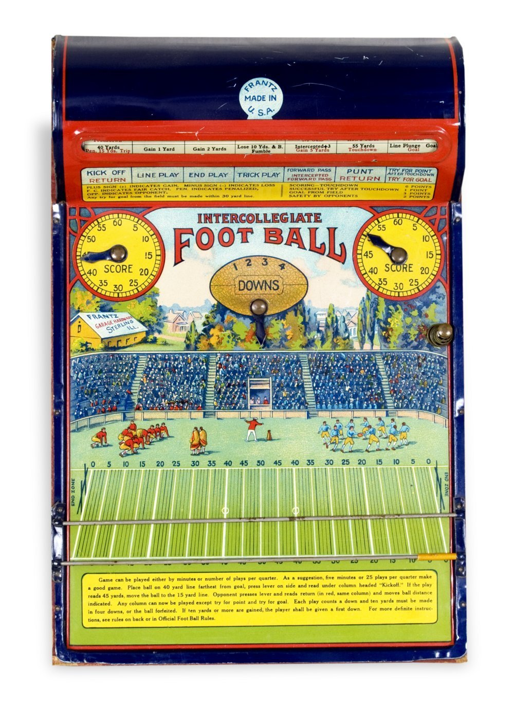 Mechanical football game