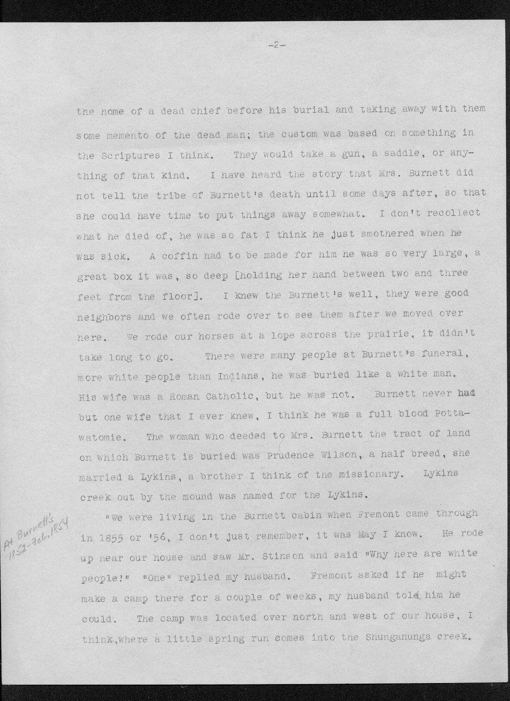 Julia Ann Stinson correspondence - 2