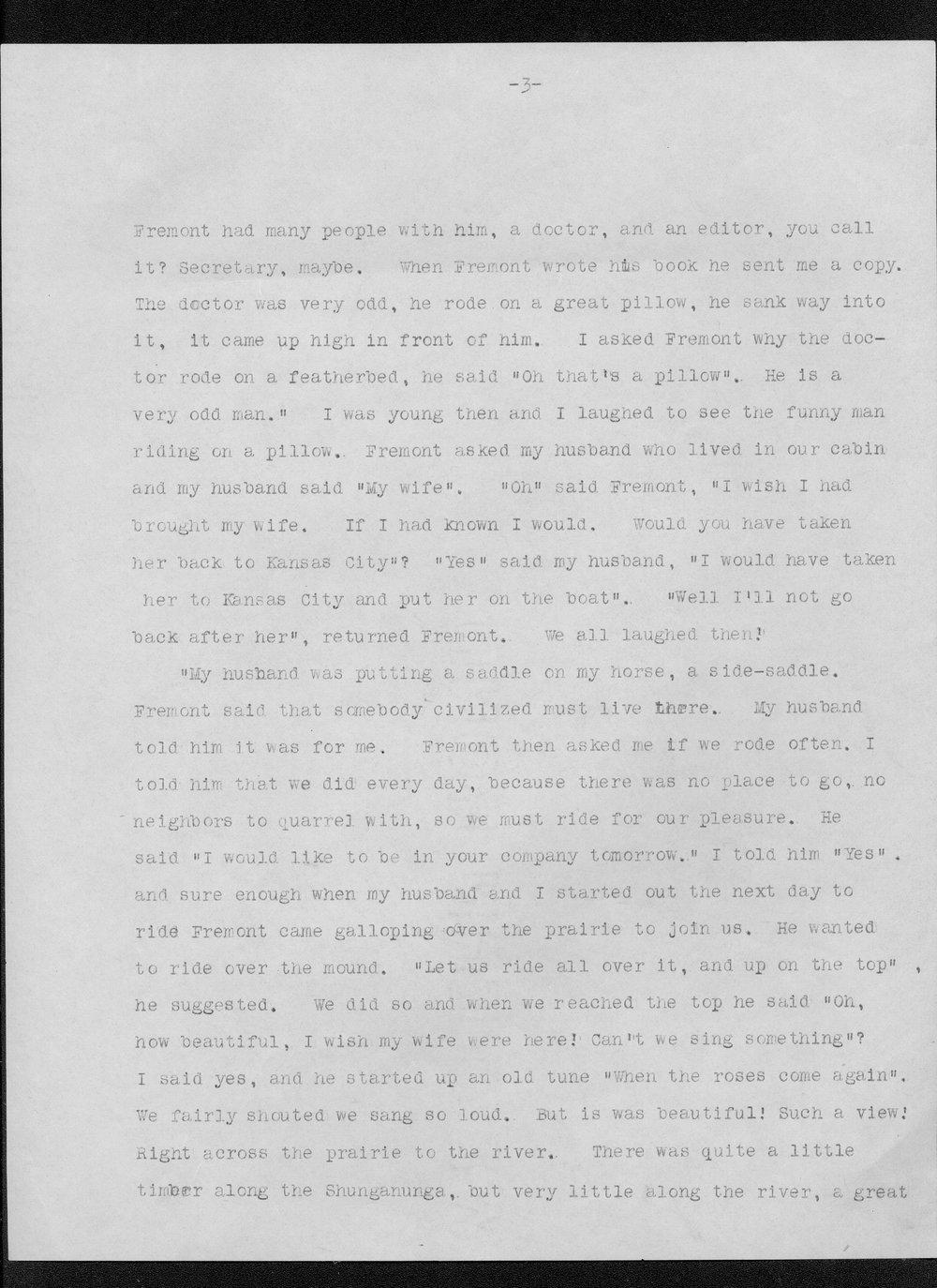 Julia Ann Stinson correspondence - 3
