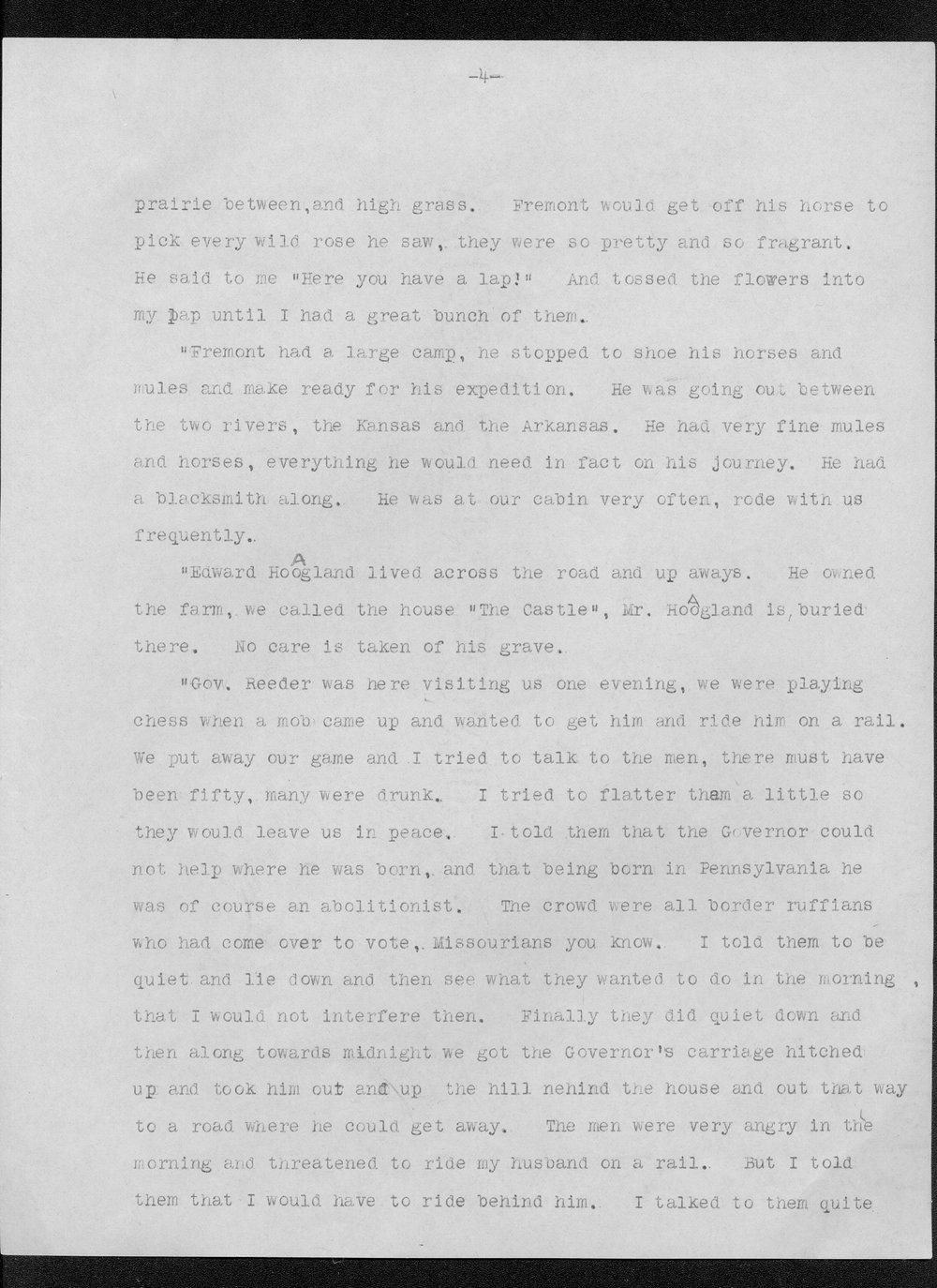 Julia Ann Stinson correspondence - 4