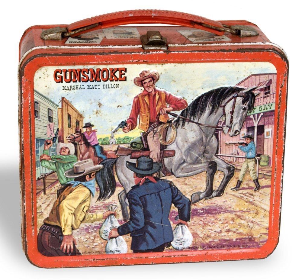 """""""Gunsmoke"""" lunchbox"""