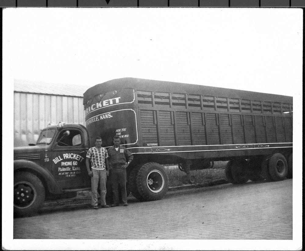 Bill Prickett trucking in Plainville, Kansas