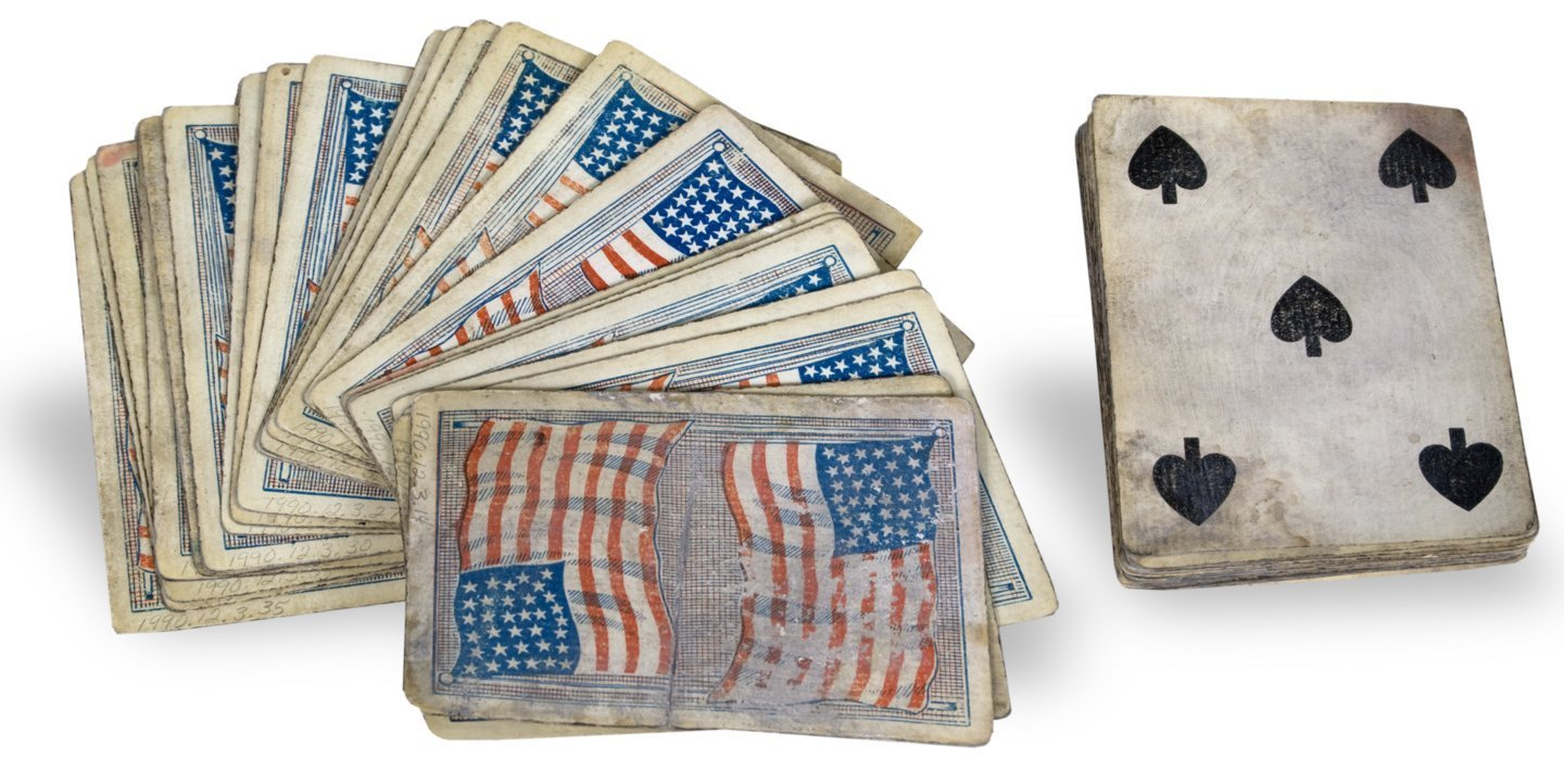 34-star American flag playing cards