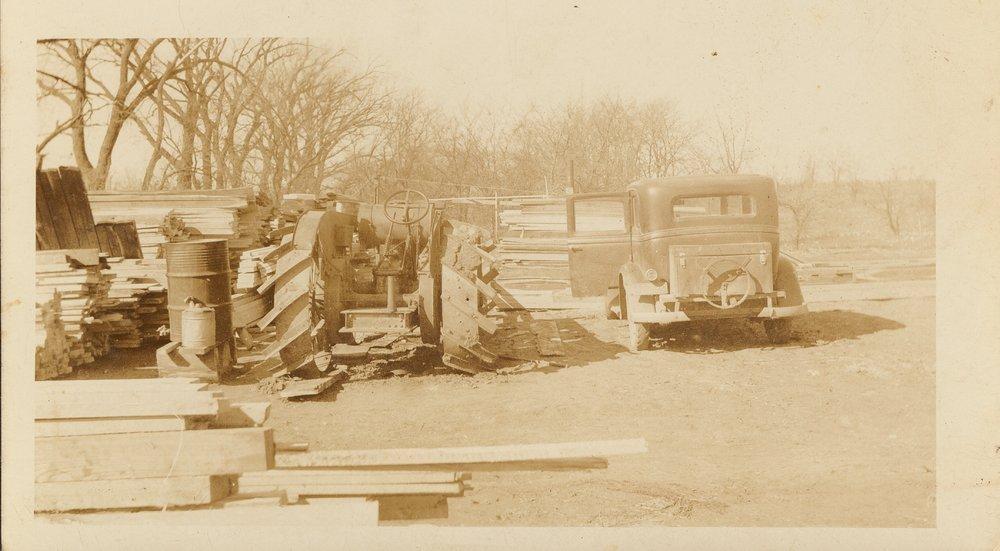 Ralph Prickett's saw mill at Council Grove, Kansas - 1