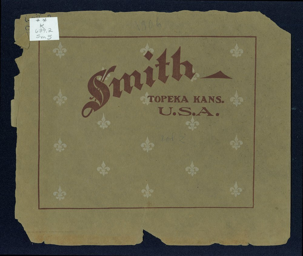 Catalogue-treatise upon the automobile. In two volumes. Volume two. The Smith Automobile Company, Topeka, Kansas - Front Cover