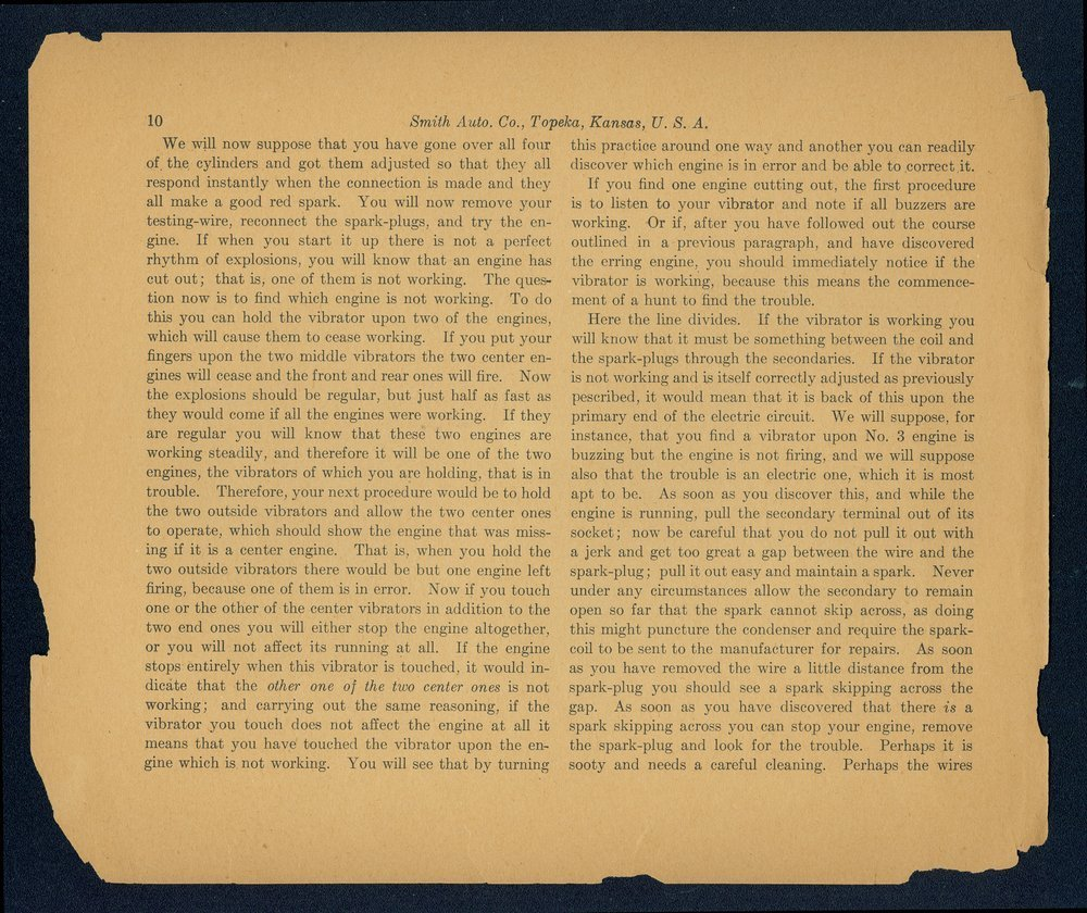 Catalogue-treatise upon the automobile. In two volumes. Volume two. The Smith Automobile Company, Topeka, Kansas - 10