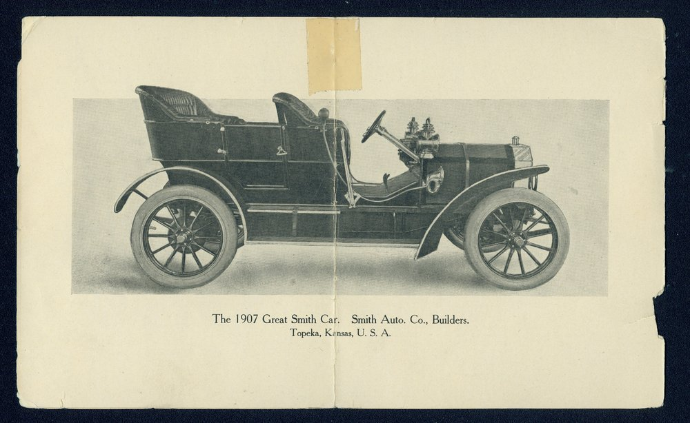 Advance sheet of the 1907 Great Smith car - 2