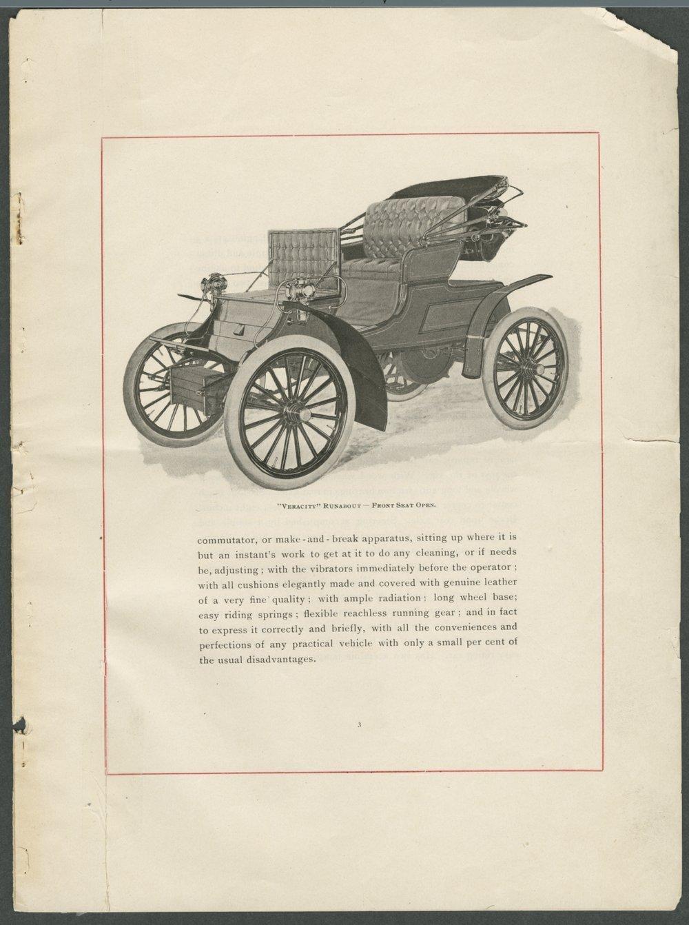 Veracity automobiles. Smith Automobile Company, Topeka, Kansas - 3