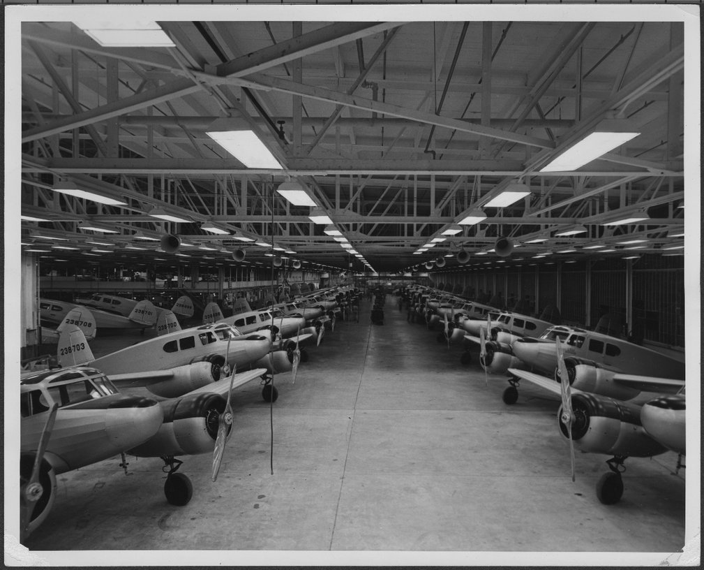 Cessna Aircraft Assembly Line, Wichita, Kansas - 1