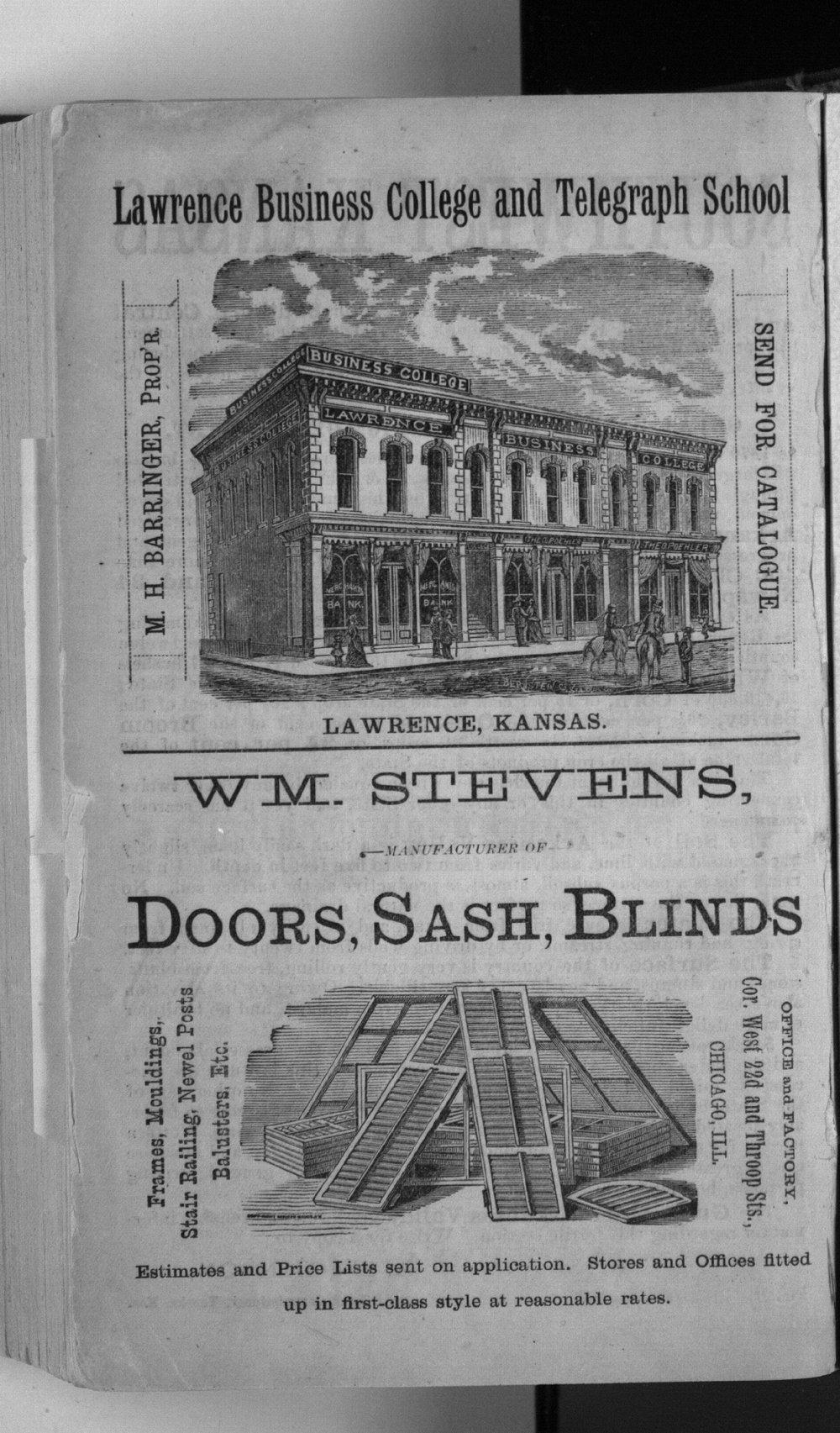 Polk's Kansas state gazetteer and business directory - advertisement