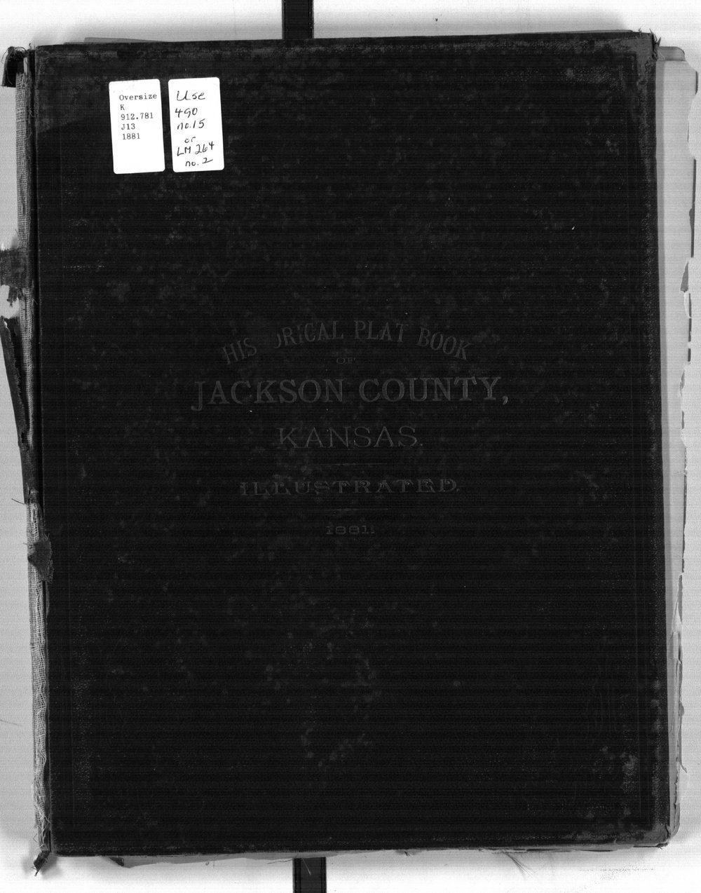 Historical Plat Book of Jackson County, Kansas - Front Cover