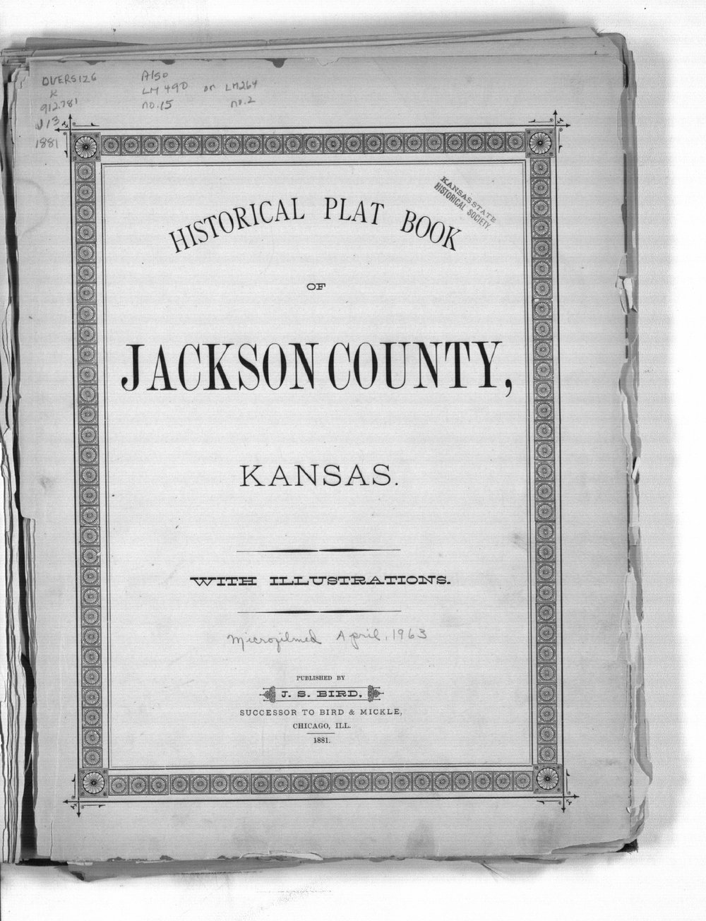 Historical Plat Book of Jackson County, Kansas - Title Page