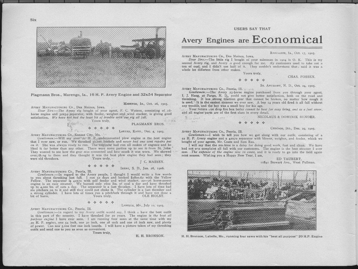 Avery Manufacturing Company catalog - 6