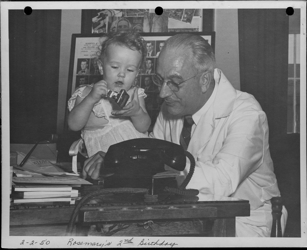 Dr. Karl Menninger - This photograph is of Rosemary in her father's office.