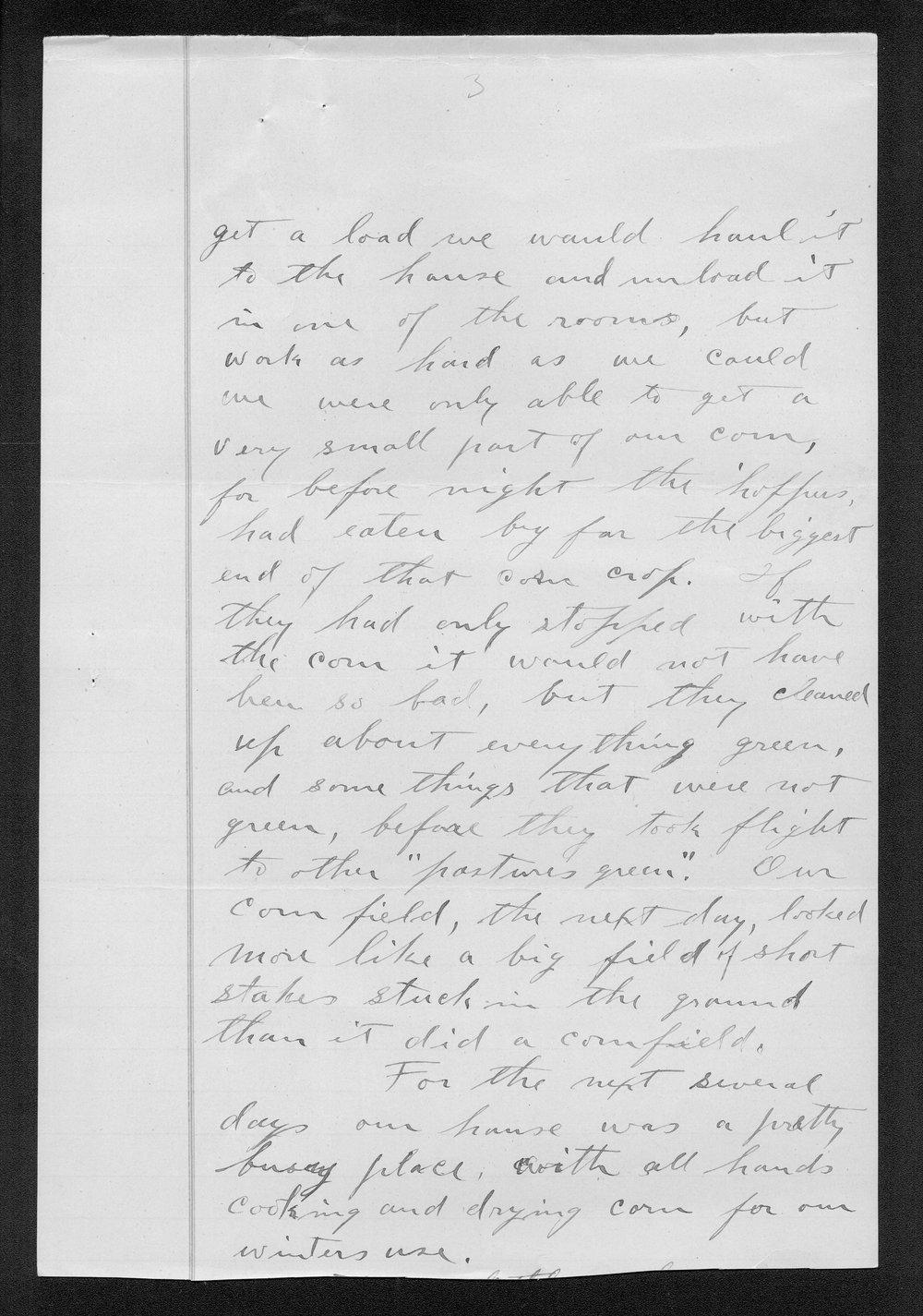 J.W. Honey to George W. Martin - 3