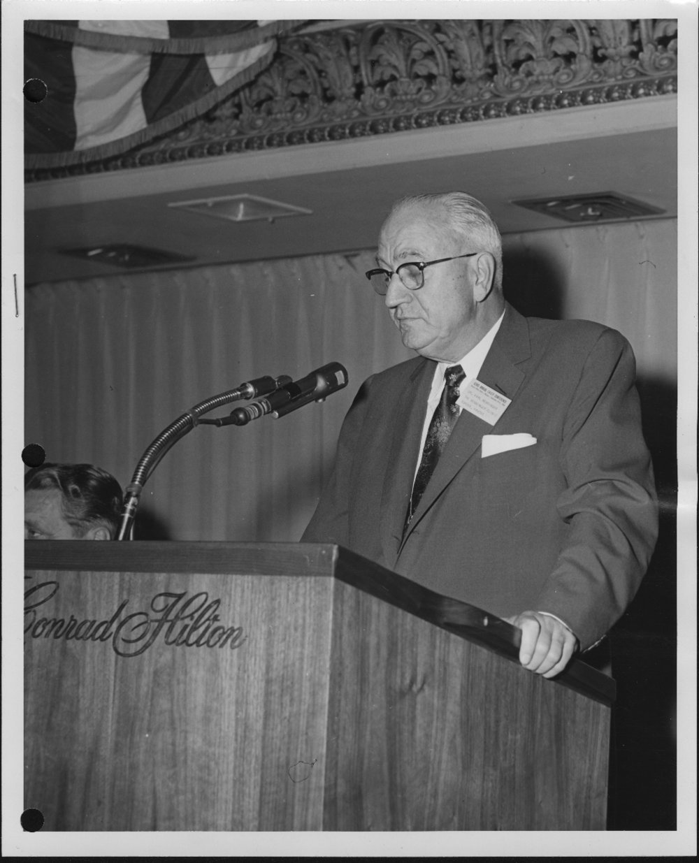 Dr. Karl Menninger - Dr. Karl is speaking to a meeting of the International Association of Chiefs of Police, held in Chicago, Ill., September 11, 1956.