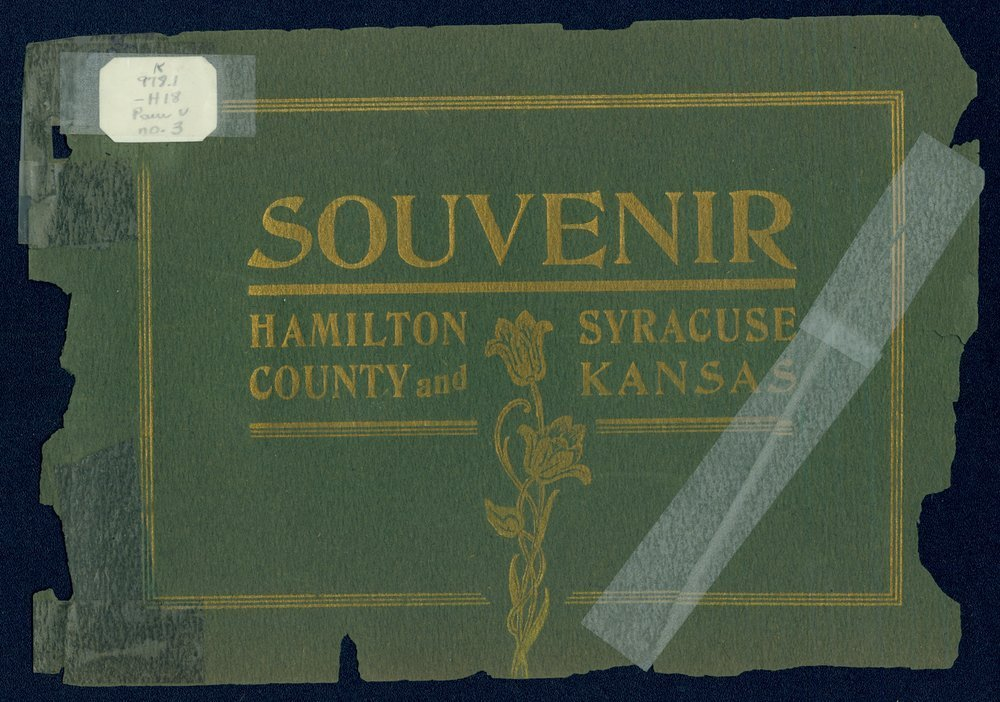 Souvenir, Hamilton County and Syracuse, Kansas - Front Cover