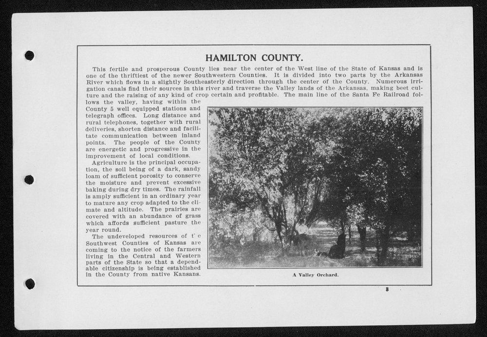 Souvenir, Hamilton County and Syracuse, Kansas - 3