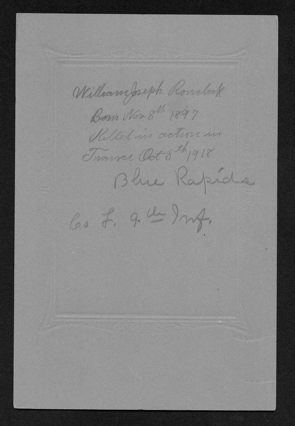 William J. Rombeck, World War I soldier - 7