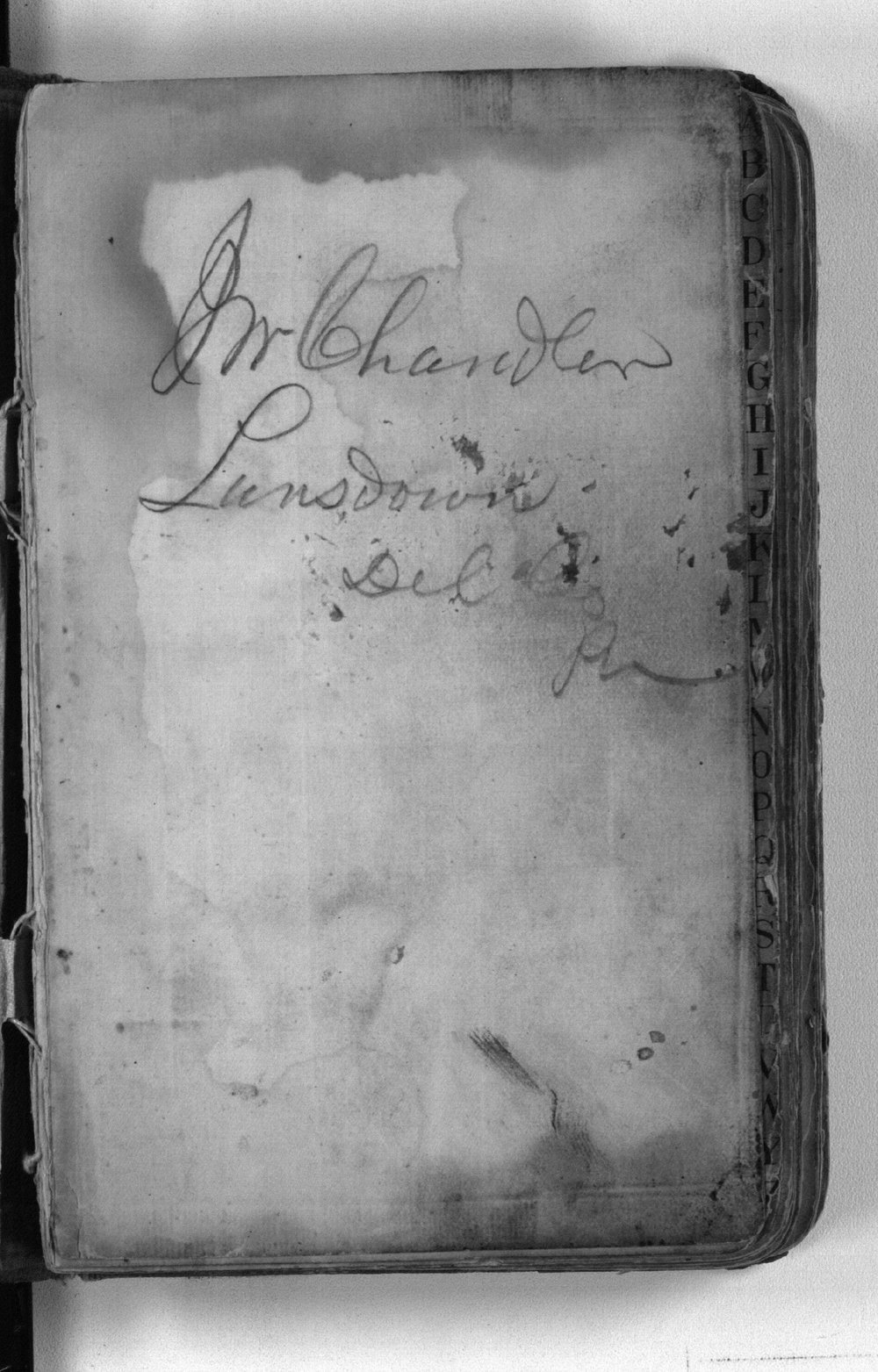 F. W. Yanner cookbook - name