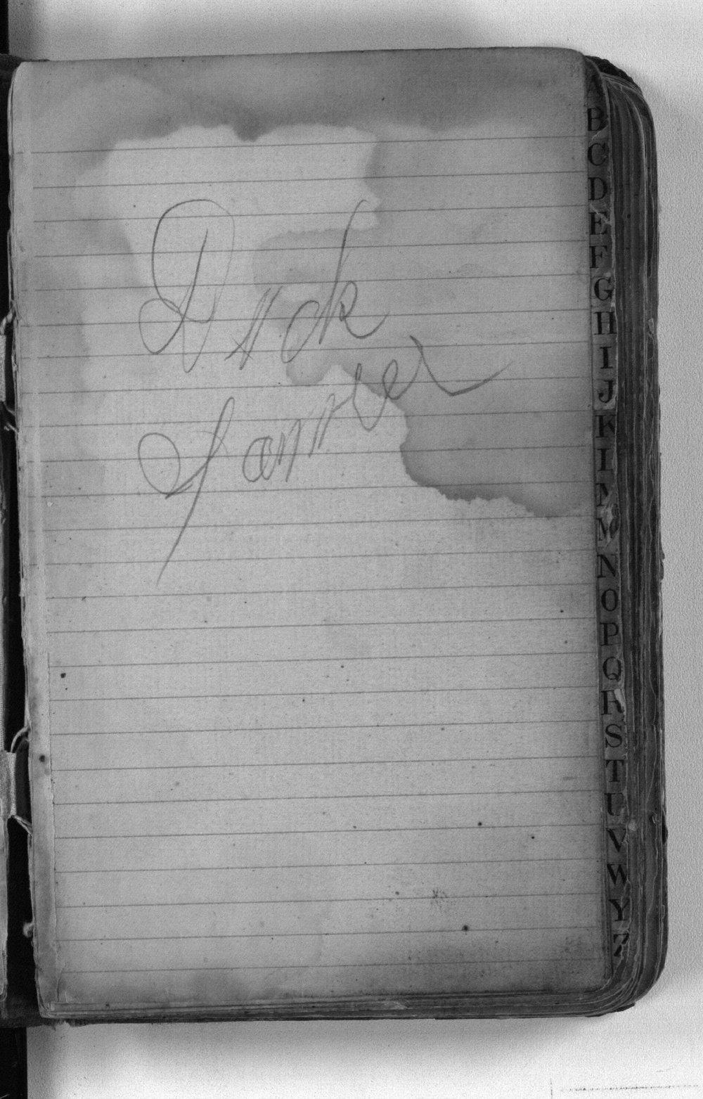 F. W. Yanner cookbook - signature