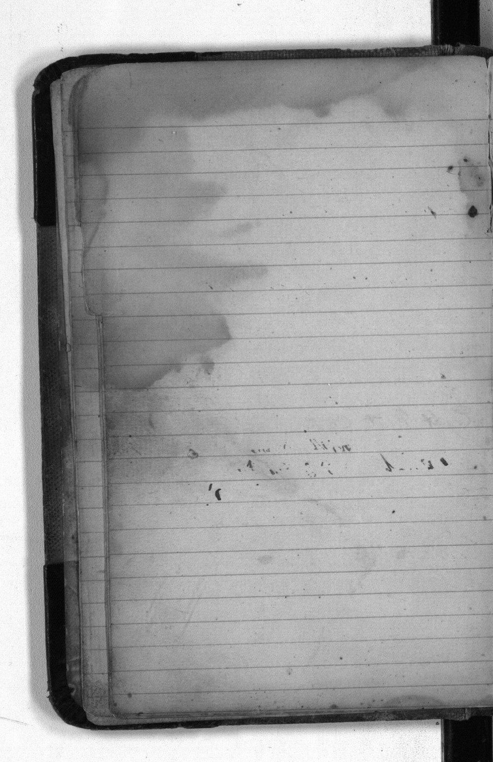 F. W. Yanner cookbook - blank page