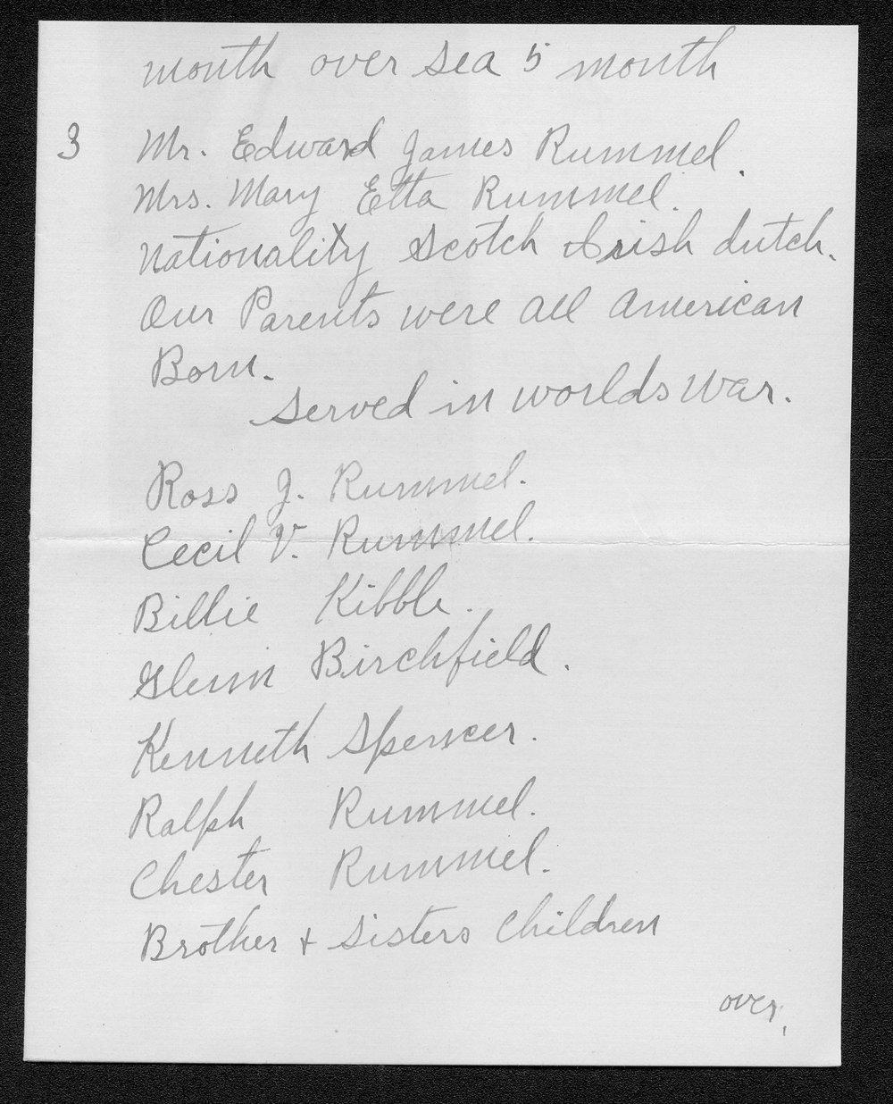 Ross J. Rummel, World War I soldier - 11
