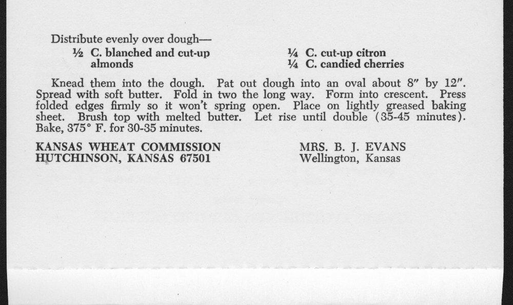 Kansas Wheat Commission recipes - 3