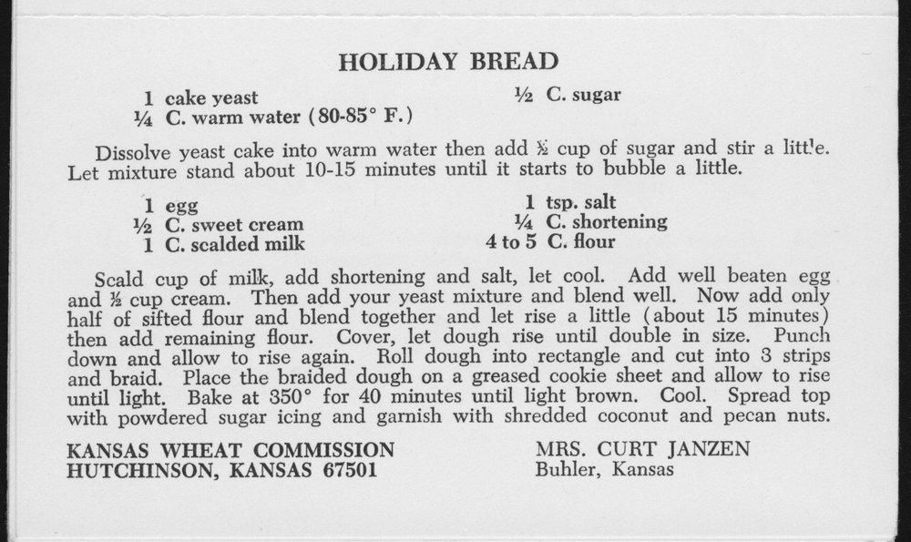 Kansas Wheat Commission recipes - 4