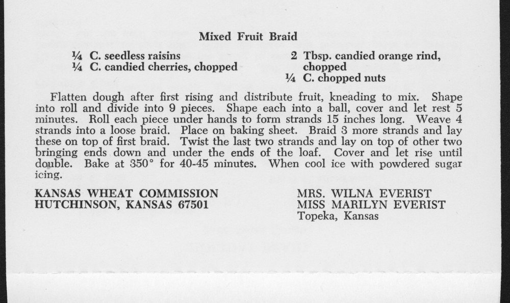 Kansas Wheat Commission recipes - 6
