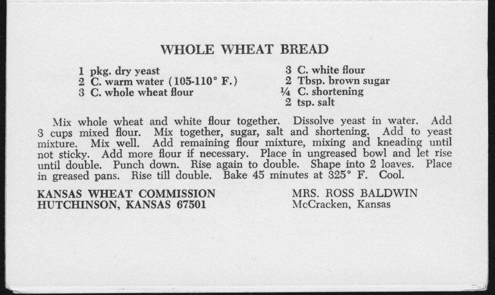 Kansas Wheat Commission recipes - 7