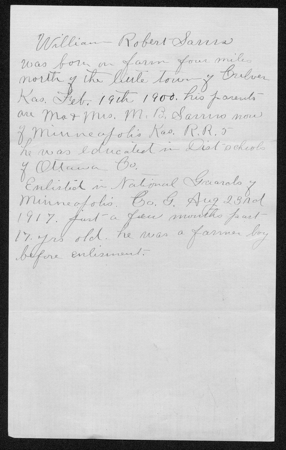 William Robert Sams, World War I soldier - 5