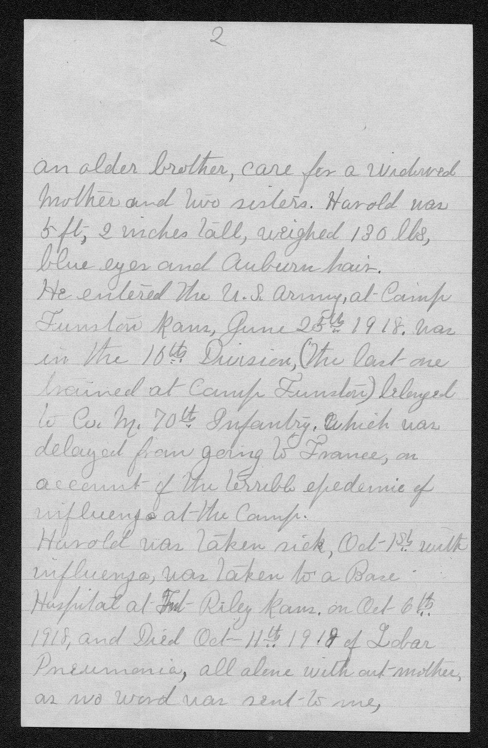 William Harold Sanders, World War I soldier - 4