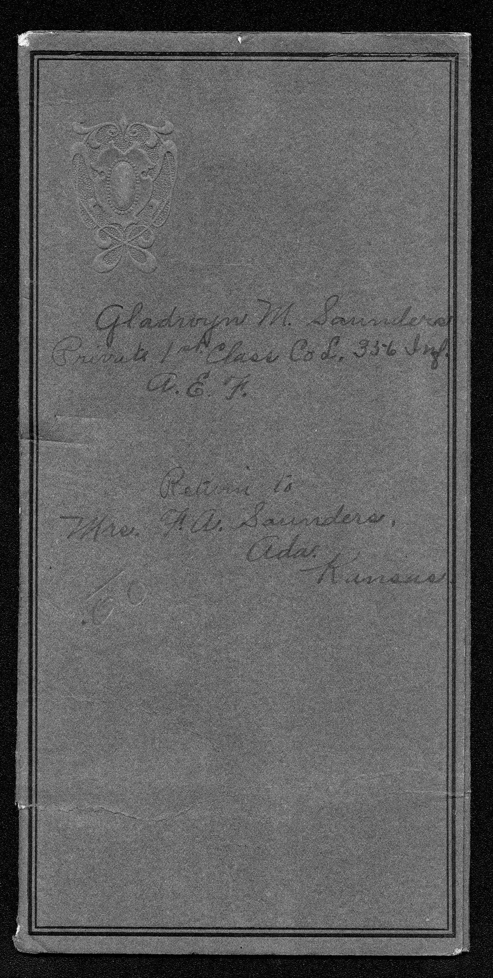 Gladwyn Mills Saunders, World War I soldier - 1