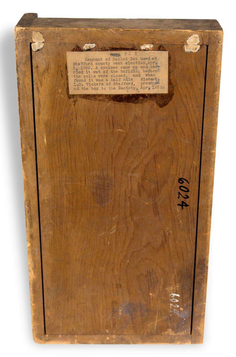 Ballot box fragment - 2