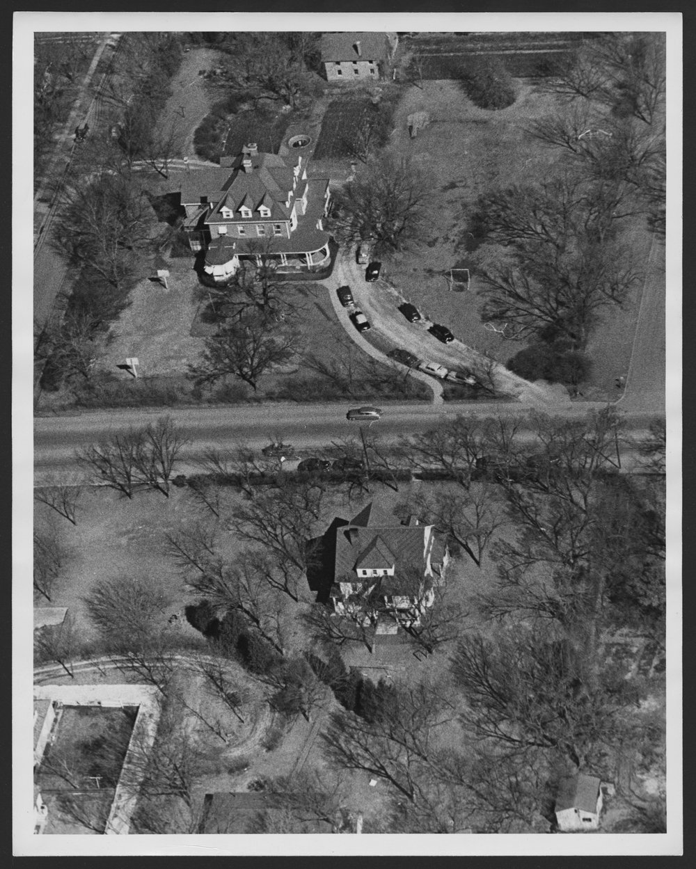 Aerial view of the early Menninger Clinic Children's Division in Topeka, Kansas