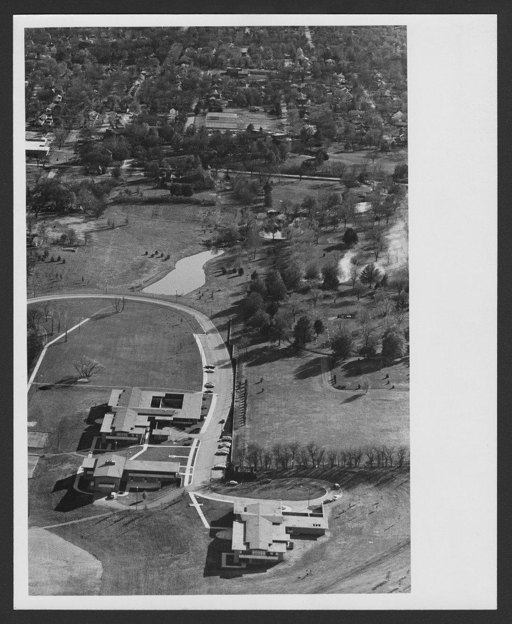 Aerial view of Menninger Clinic Children's Division in Topeka, Kansas