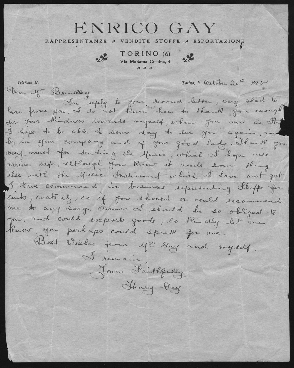 John R. Brinkley correspondence and political material - 6