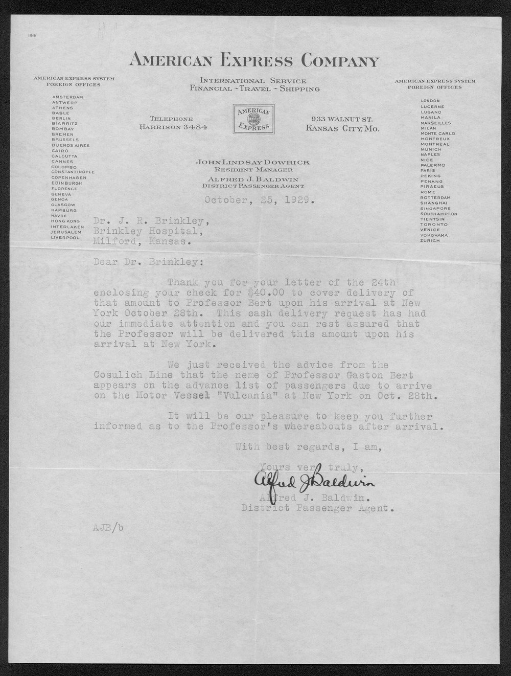 John R. Brinkley correspondence and political material - 8