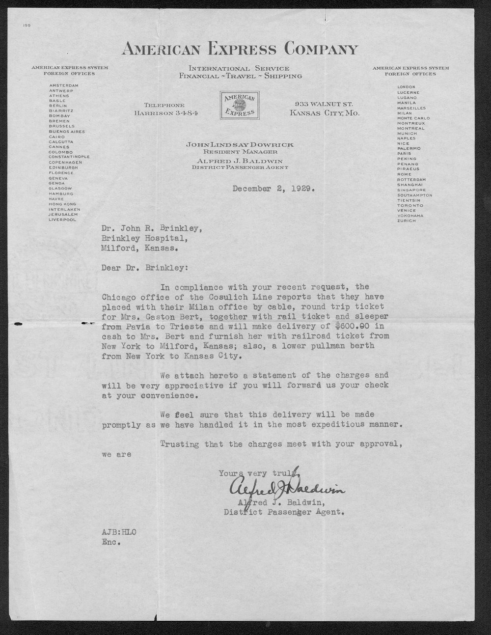 John R. Brinkley correspondence and political material - 9