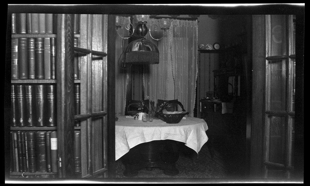 Charles F. Menninger homes in Topeka, Kansas - The dining room at 1251 Topeka Avenue .