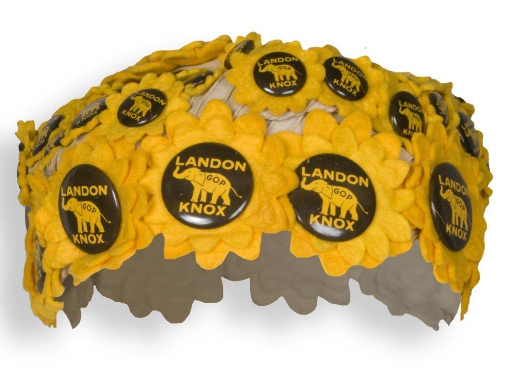 Alfred Landon campaign button cap