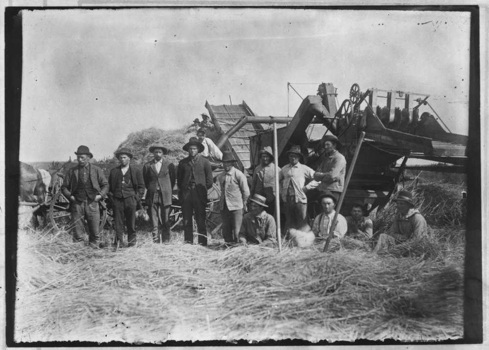 C. R. Voth and crew threshing in Marion County, Kansas - 2