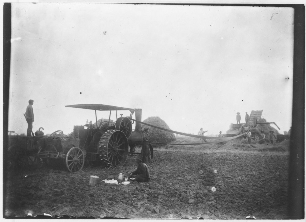 C. R. Voth and crew threshing in Marion County, Kansas - 3
