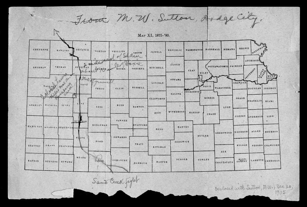 George Martin correspondence on the 1878 route of the Cheyenne Indians through Kansas - 2