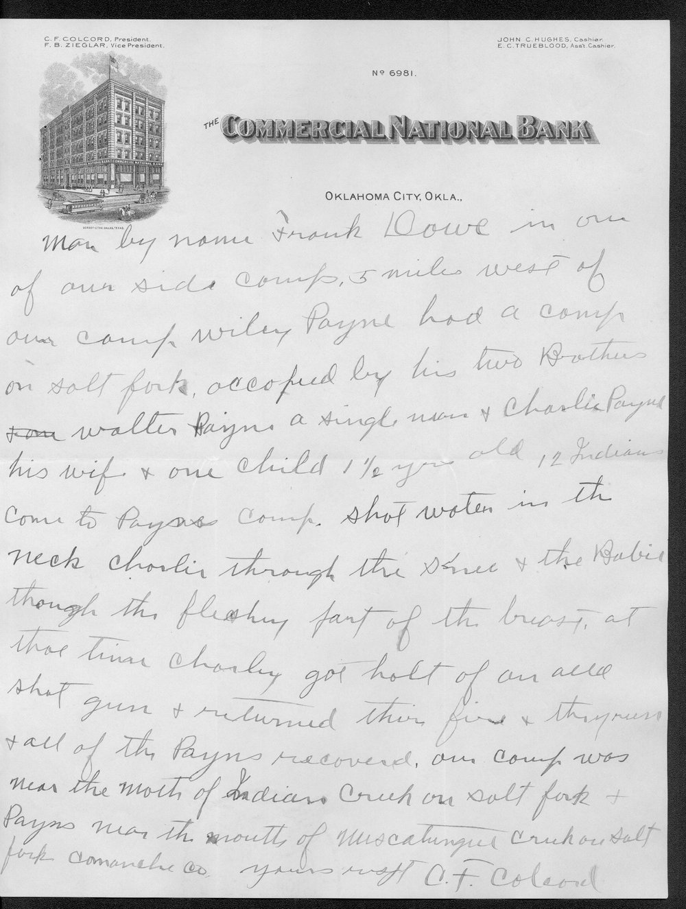 George Martin correspondence on the 1878 route of the Cheyenne Indians through Kansas - 12