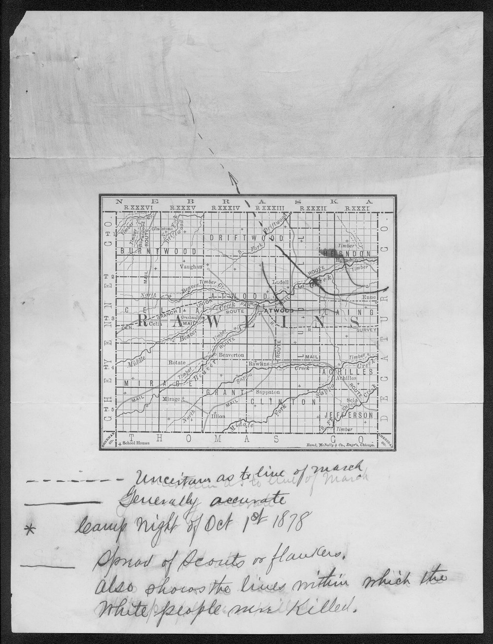 George Martin correspondence on the 1878 route of the Cheyenne Indians through Kansas - 26