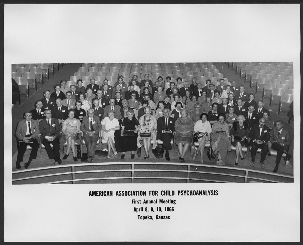 American Association for Child Psychoanalysis first annual meeting in Topeka, Kansas - Attendees at the meeting.